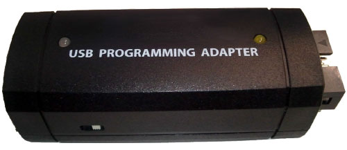 Novato USB-to-UART programming adapter.