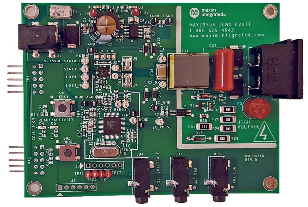 narrowband plc ics for industrial controlnarrowband ofdm powerline communication modem max79356 ev kit