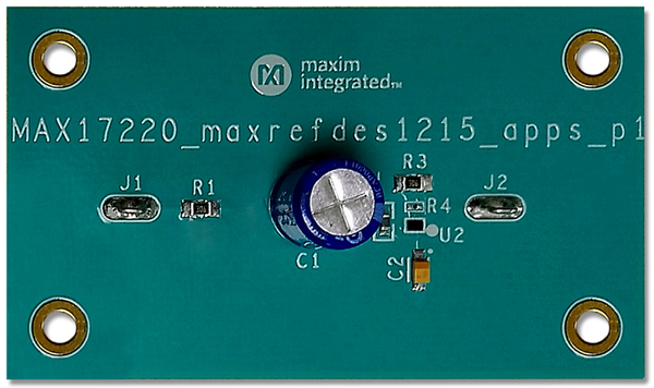 MAXREFDES1215 Supercapacitor-Based Energy Harvester