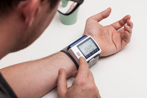 Wearable medical devices can be used by patients at home to monitor blood pressure.