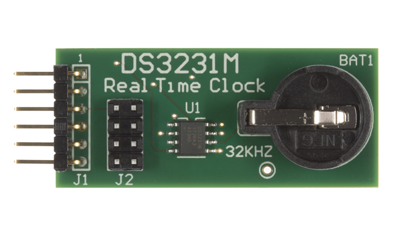 real time clock (rtc) ics maximds3231mpmb1 interfaces the ds3231m rtc