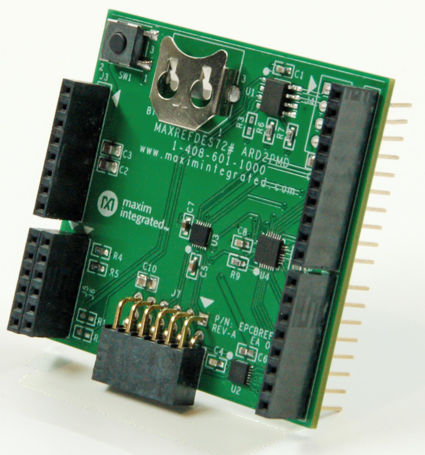 Maxrefdes72 Pmod Adapter For Arduino Platform How To Make Custom Shields A Microcontroller Board
