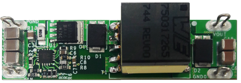 MAXREFDES1098 - Miniature, 24V/500mA, No-Opto Flyback DC-DC Converter with 92% Efficiency Using the MAX17690