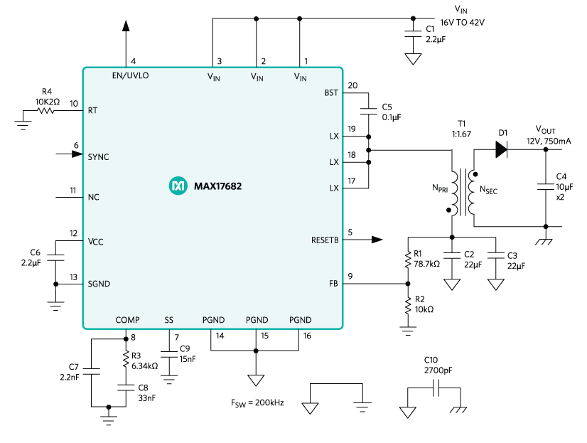 DC Converter - Isolated Power Supplies | Maxim Integrated on