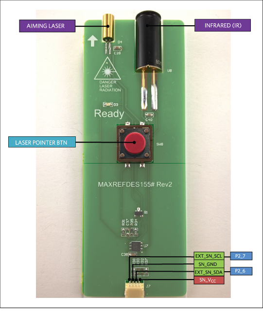 Infrared laser sensor module connections.