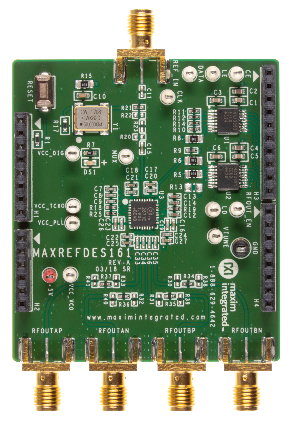 Maxrefdes161 Frequency Synthesizer Shield Maxim Circuit Diaghram Of Low System Board