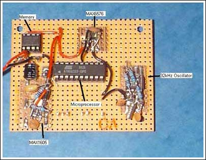 Figure 4. A tight layout of the components that constitute that data-logger board reduces the chances of encountering problems during testing and under actual operating conditions.