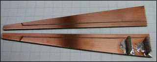 Figure 4. The two rectangular spacers are soldered to one board.