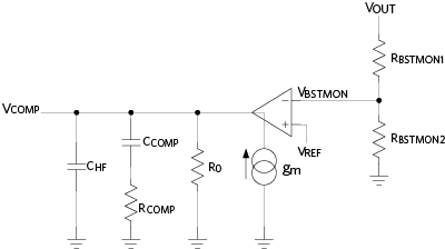 Type II transconductance amplifier for loop compensation.