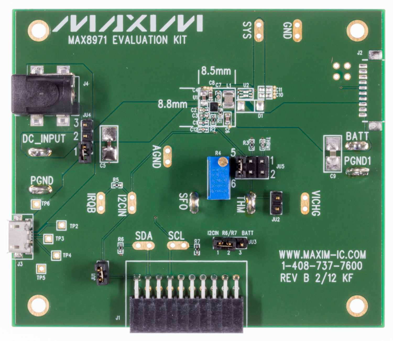 Battery Management Ics Maxim Realtime Clock Calendar Ic Electronics And Electrical Engineering Max8971evkit