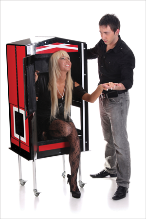"A magician and his assistant provide distractions to help ""sell"" illusions."