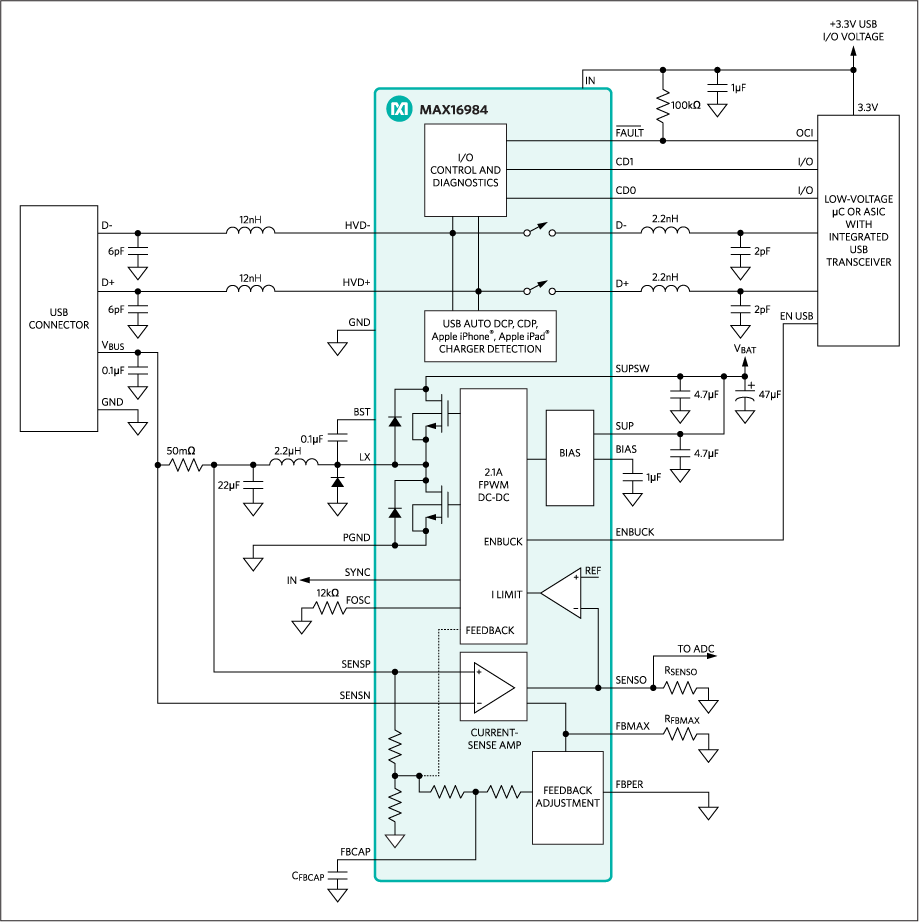 Overview Of Usb Battery Charging Revision 12 And The Important Role Solar Charger Circuit Diagram On Volt A Highly Integrated Dc Step Down Converter With Host Adapter Circuitry