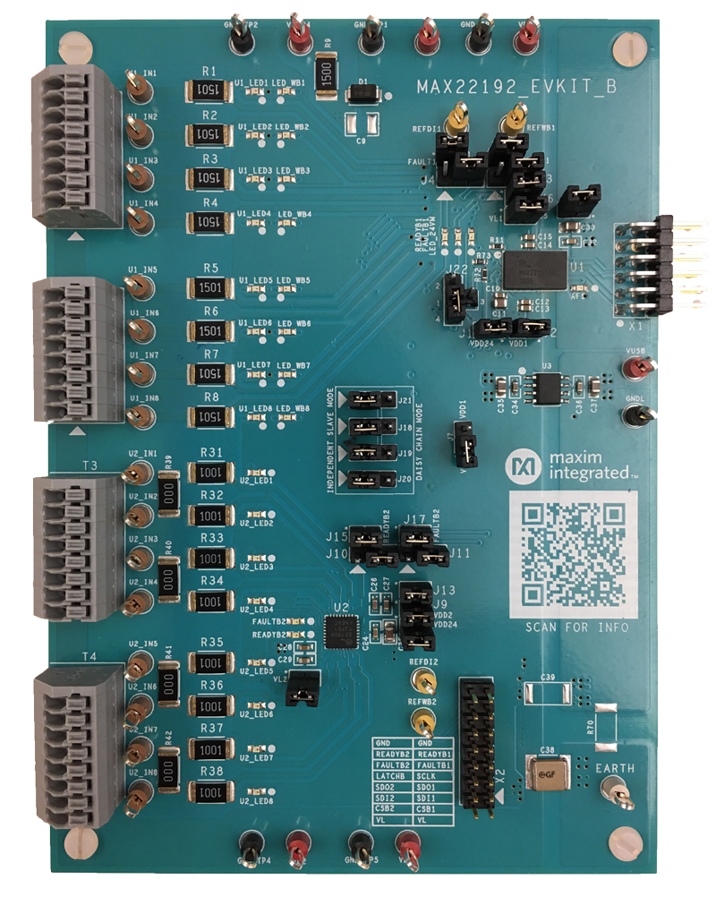 MAX22192EVKIT, MAX22192EVSYS: Board Photo