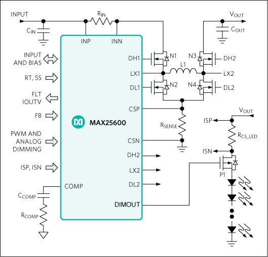 MAX25600: Simplified Application Circuit