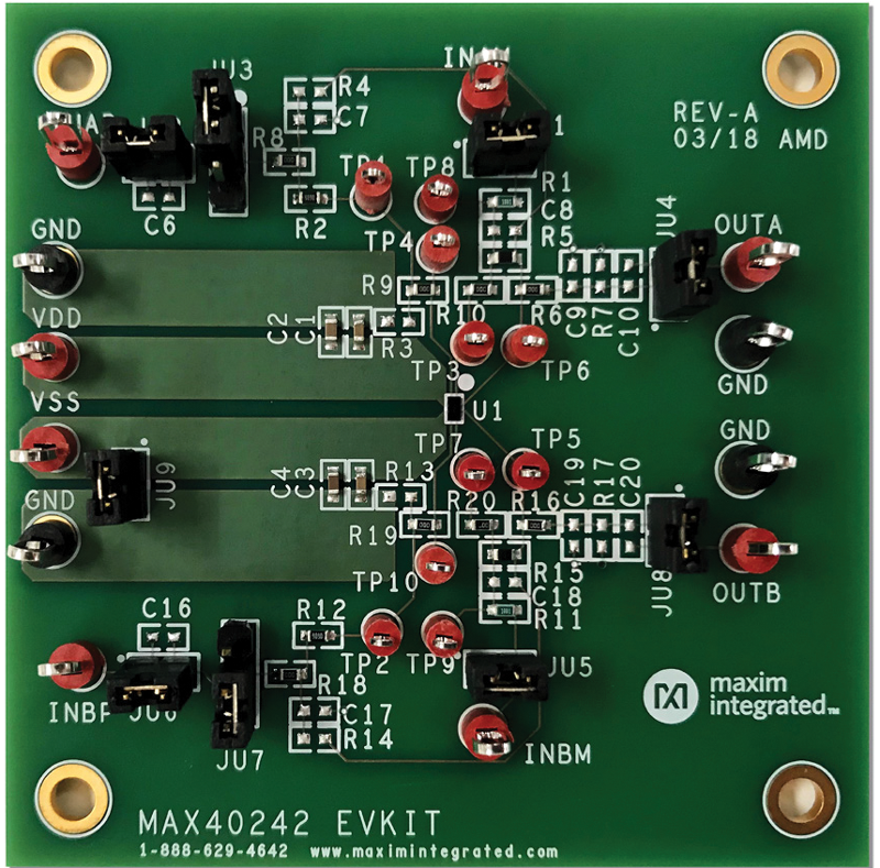 MAX40242EVKIT: Board Photo