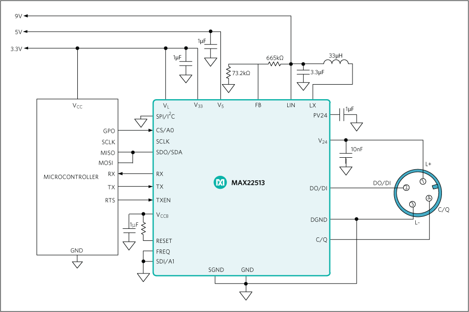 MAX22513: Typical Application Circuits