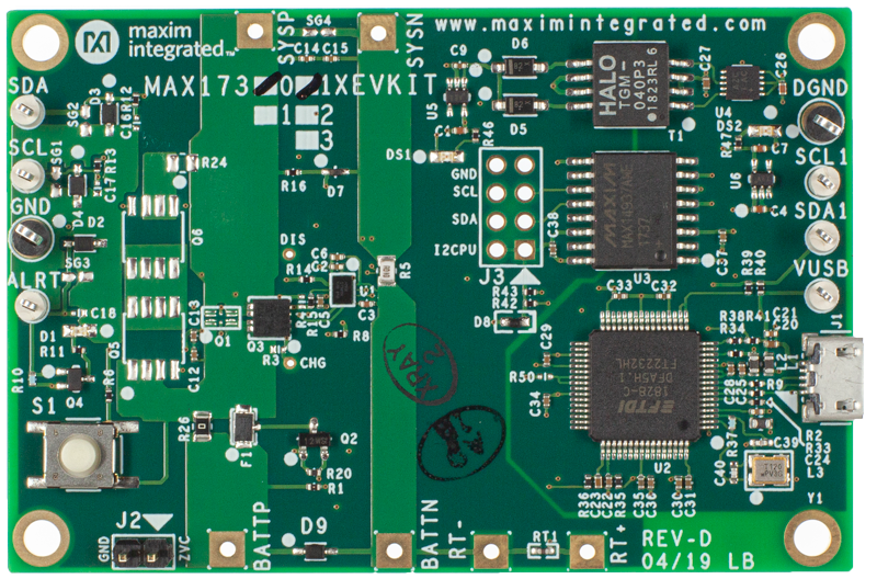 MAX173xxX/MAX173xxG: Board Photo