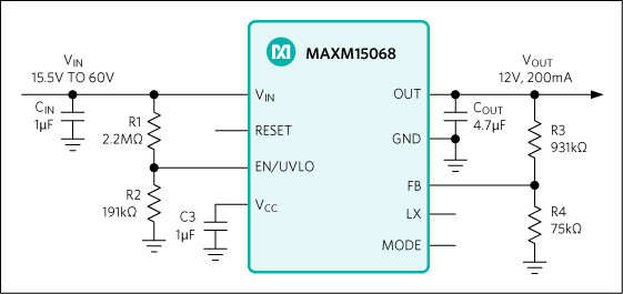 MAXM15068: Typical Application Circuit