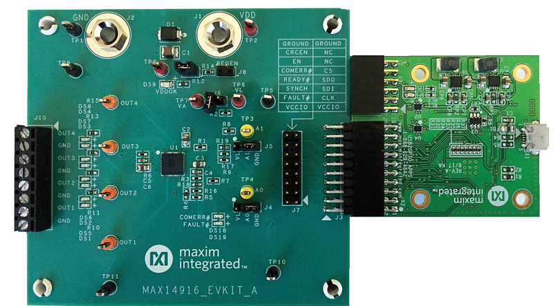 MAX14916EVKIT: Board Photo