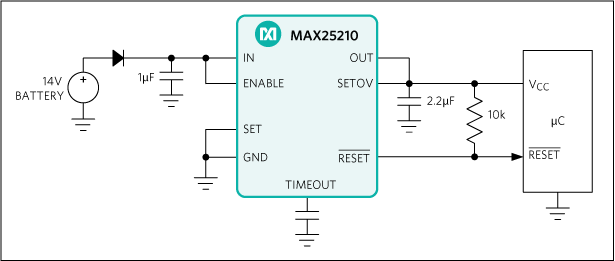 MAX25210: Typical Application Circuit