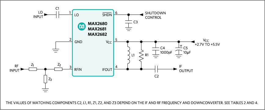 MAX2680, MAX2681, MAX2682: Typical Operating Circuit
