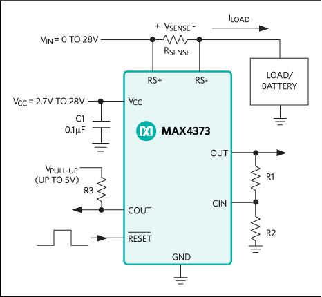MAX4373, MAX4374, MAX4375: Typical Operating Circuit
