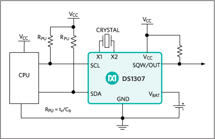 DS1307: Typical Operating Circuit