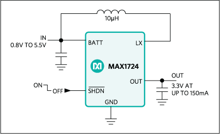 MAX1722, MAX1723, MAX1724: Typical Operating Circuit