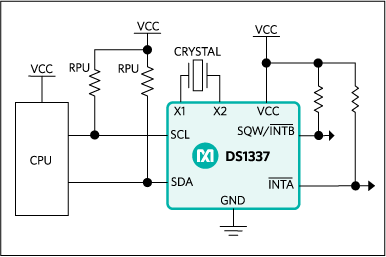 DS1337, DS1337C: Typical Operating Circuit