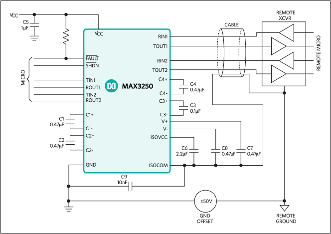 MAX3250: Typical Operating Circuit