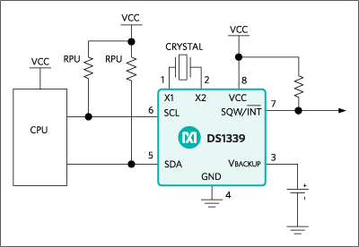 DS1339, DS1339C, DS1339U: Typical Operating Circuit