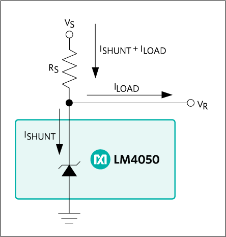 LM4050, LM4051: Typical Operating Circuit