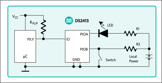 DS2413: Typical Operating Circuit