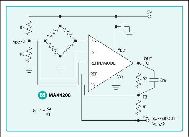 MAX4208, MAX4209: Application Circuit