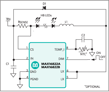 MAX16822A, MAX16822B: Typical Application Circuit