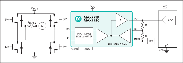 MAX9918, MAX9919, MAX9920: Typical Operating Circuit