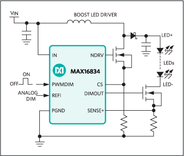 Max16834 High Power Led Driver With Integrated High Side