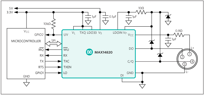 MAX14820: Typical Operating Circuit