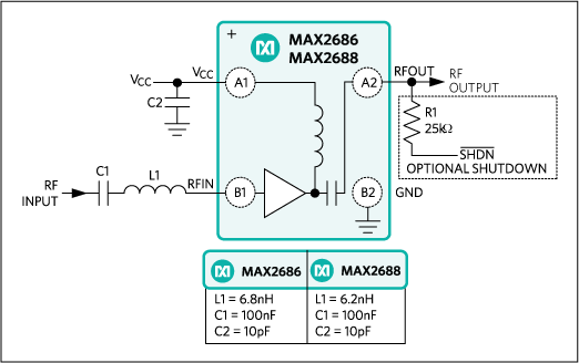 MAX2686, MAX2688: Typical Application Circuit