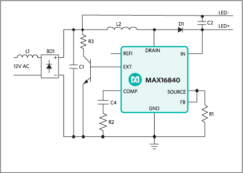 MAX16840: Typical Operating Circuit