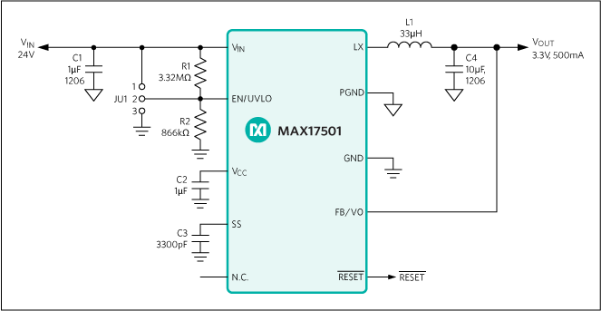 MAX17501: Typical Operating Circuit