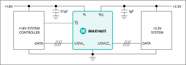MAX14611: Typical Operating Circuit