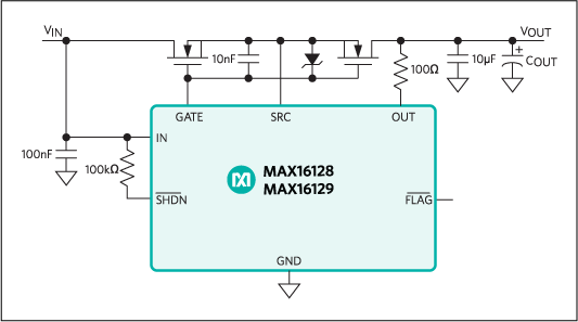 MAX16128, MAX16129: Typical Operating Circuit