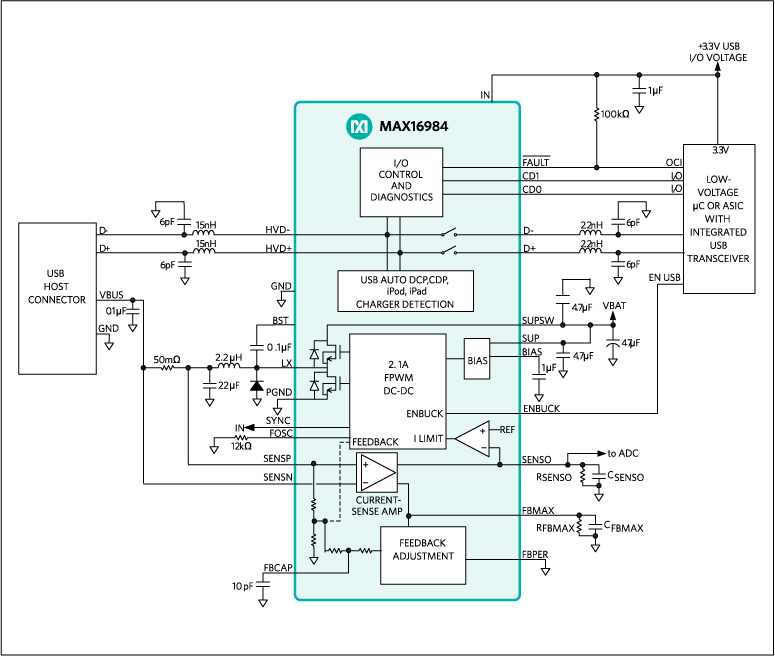 MAX16984: Typical Operating Circuit