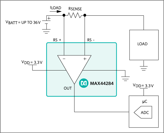 MAX44284: Typical Application Circuit