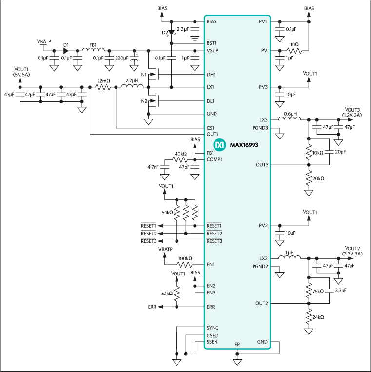 MAX16993: Typical Application Circuit