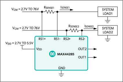 MAX44285: Typical Operating Circuit