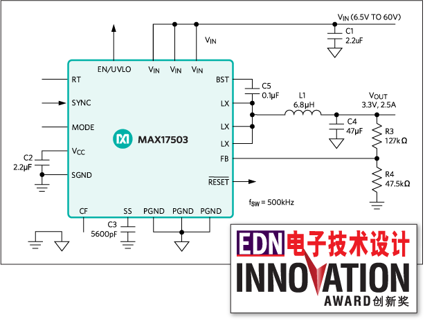 MAX17503: Typical Application Circuit