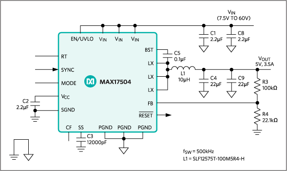 MAX17504: Typical Application Circuit