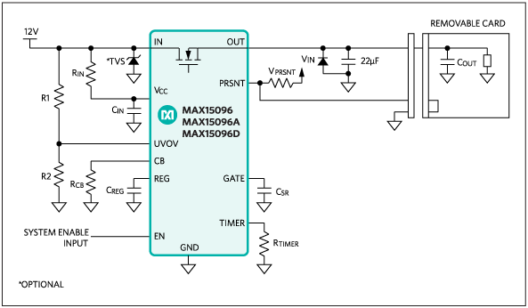 MAX15096, MAX15096A, MAX15096D: Typical Application Circuit